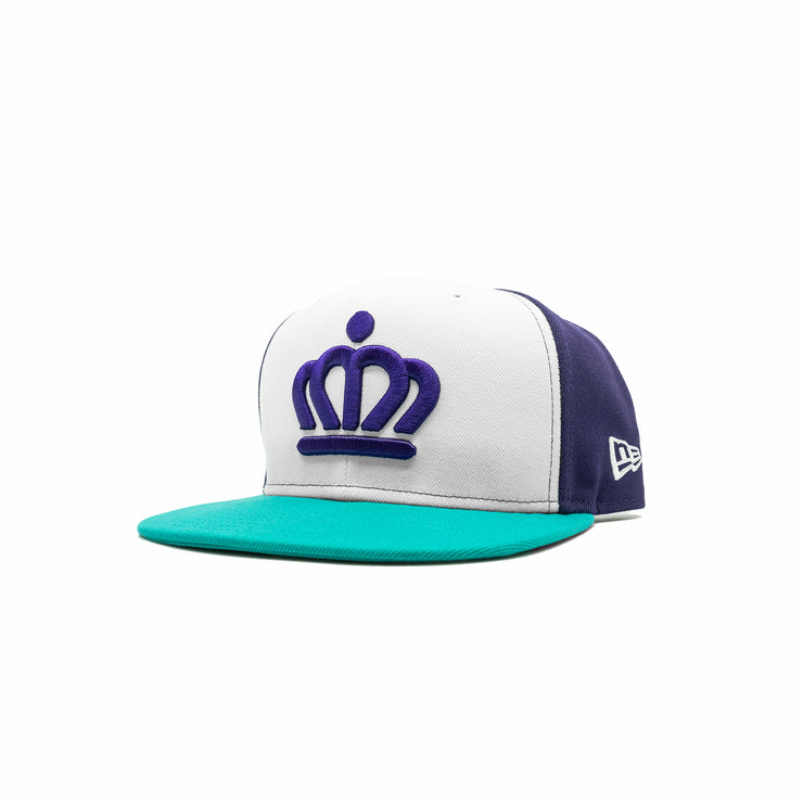 704 Shop x New Era - Official Crown Color Blocked 950 Hat (Purple/White/Teal)