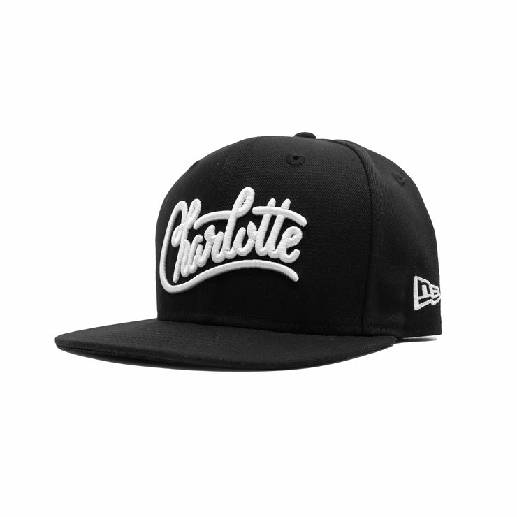 704 Shop x New Era 950 Charlotte Script Hat - Black/White