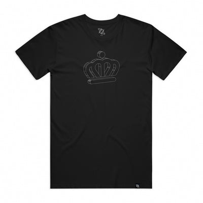 City of Charlotte Official Crown 3D Logo Tee - Black/White (Unisex)
