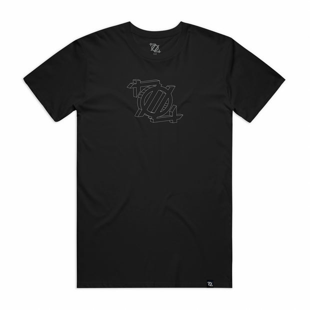704 Shop 3D Logo Tee - Black/White (Unisex)