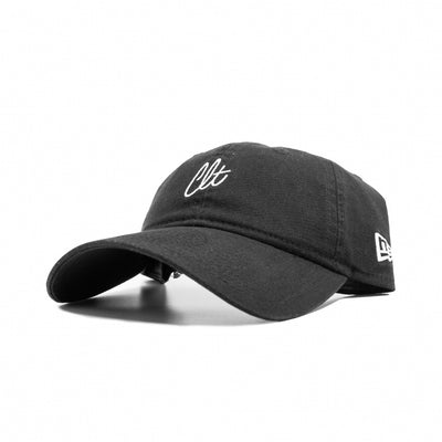 704 Shop x New Era 920 Dad Hat - Clt Script (Black)