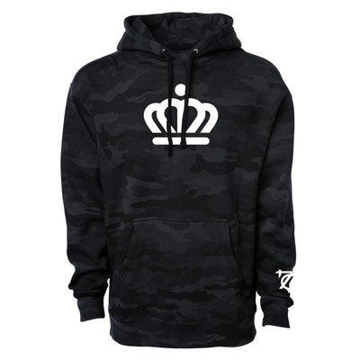 704 Shop x City of Charlotte - Official Crown Hoodie - Black Camo (Unisex)