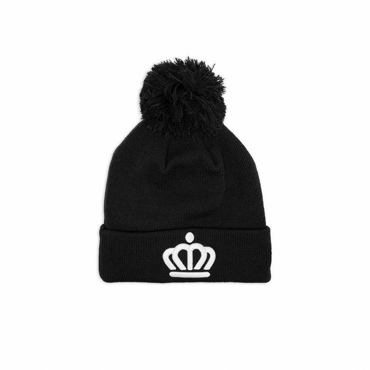 704 Shop x New Era x City of Charlotte Official Crown Pom Beanie - Black/White (Unisex)