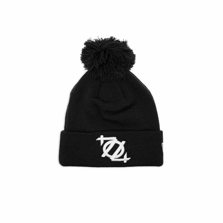 704 Shop x New Era 704 Logo Pom Beanie - Black/White (Unisex)