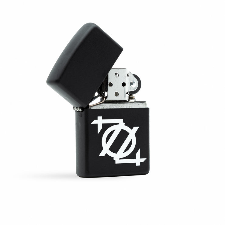 704 Shop x Zippo Windproof Lighter - Matte Black/White