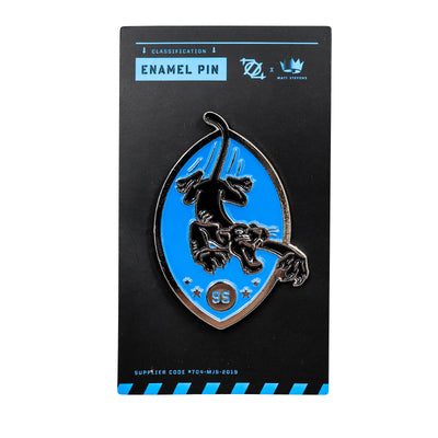 704 Shop x Matt Stevens - Black and Blue Enamel Pin