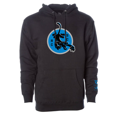 704 Shop x Matt Stevens - Black and Blue NC/SC Hoodie (Unisex)
