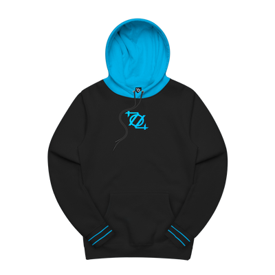 704 Shop Process™ 704 Logo Colorblock Hoodie - Black/Blue (Unisex)