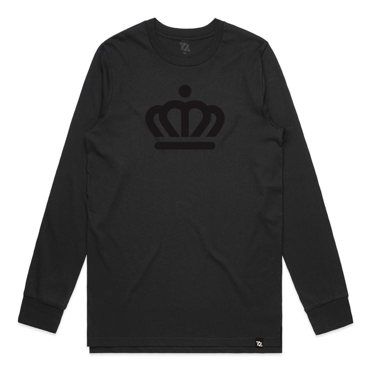 704 Shop Official Crown Long Sleeve Tee - Blackout (Unisex) (Black Friday Limited Edition)