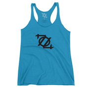 * 704 Shop Logo Tank - Teal/Black (Women's) *