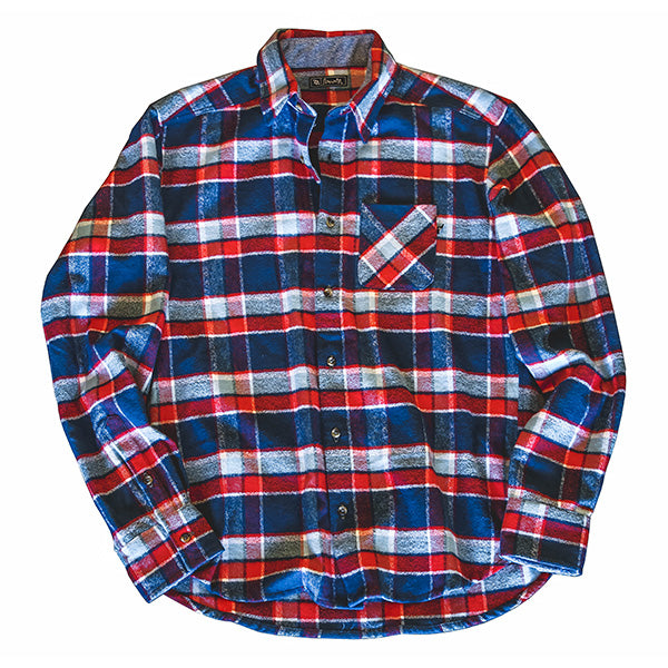 704 Shop Premium Flannel Button-Up - Red, White, Blue