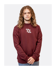 704 Shop Essential Terry Crewneck Sweatshirt - Burgundy