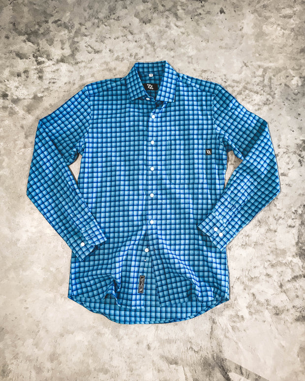 704 Shop Premium Button Up - Teal/Purple Lightweight Flannel (Men's)