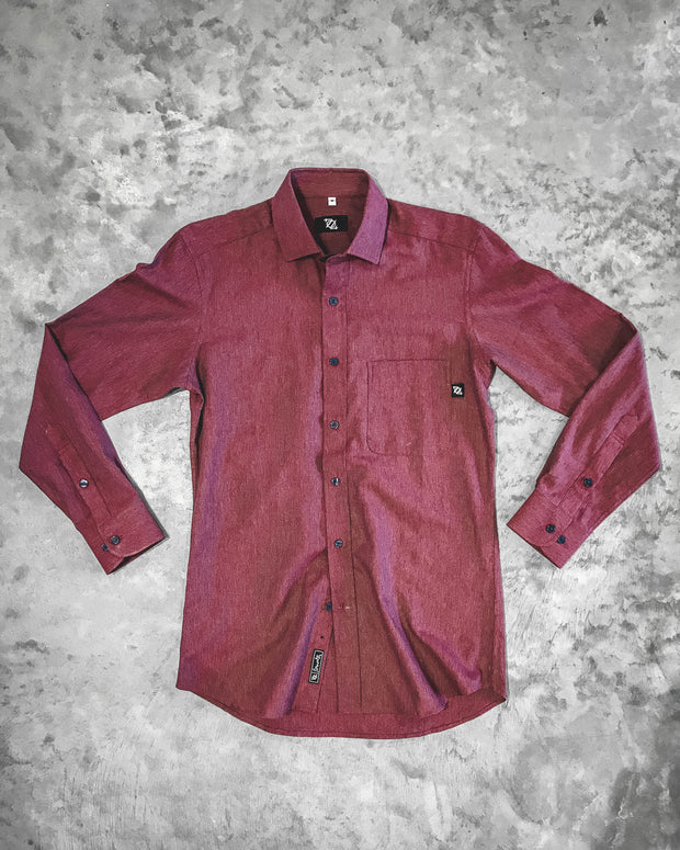 704 Shop Premium Button Up - Brick Burgundy Lightweight Flannel (Men's)