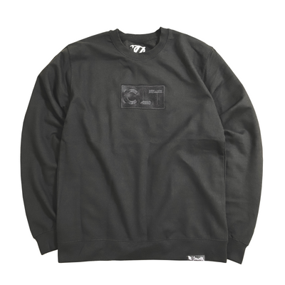 *Limited Edition* 704 Shop Tonal Embroidery Premium CLT Box Crew Neck - Midweight Blackout (Unisex Crew Neck)