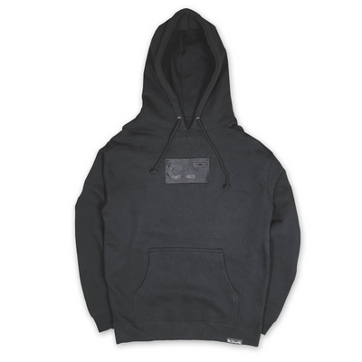*Limited Edition* 704 Shop Tonal Embroidery Premium CLT Box Hoodie - Heavyweight Blackout (Unisex)
