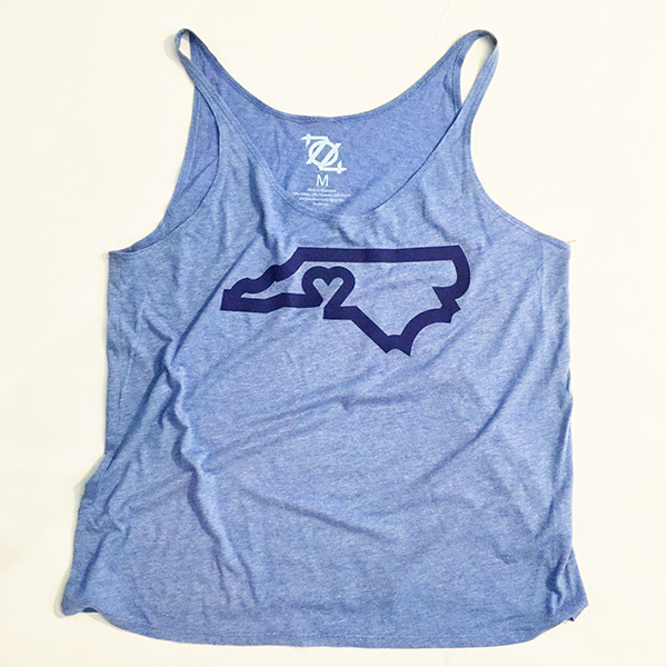 704 Shop CLT Love Tank - Carolina Blue/Navy (Women's)