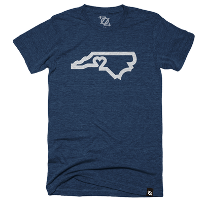704 Shop CLT Love Tee - Navy/Off-White (Unisex)