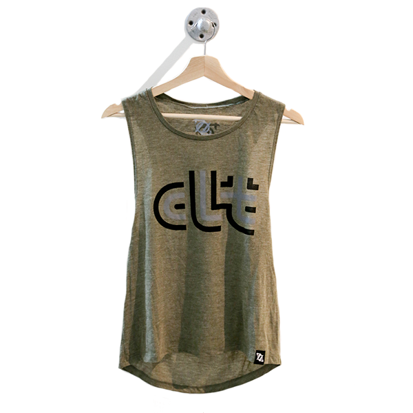 704 Shop CLT Retro Muscle Tank - Olive (Women's)