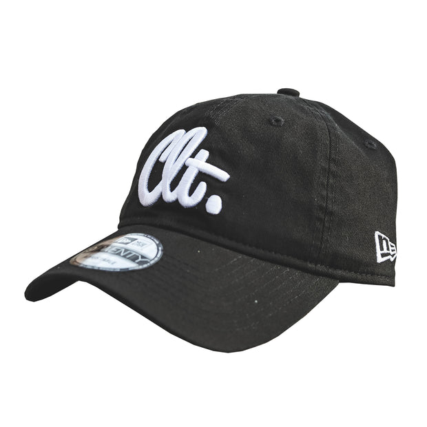 704 Shop x New Era CLT Script 920 Dad Cap - Black