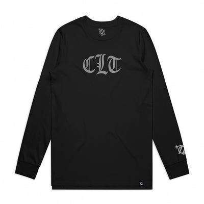 704 Shop CLT Gothic Longsleeve Tee - Black/Gray (Unisex) *Black Friday Exclusive*