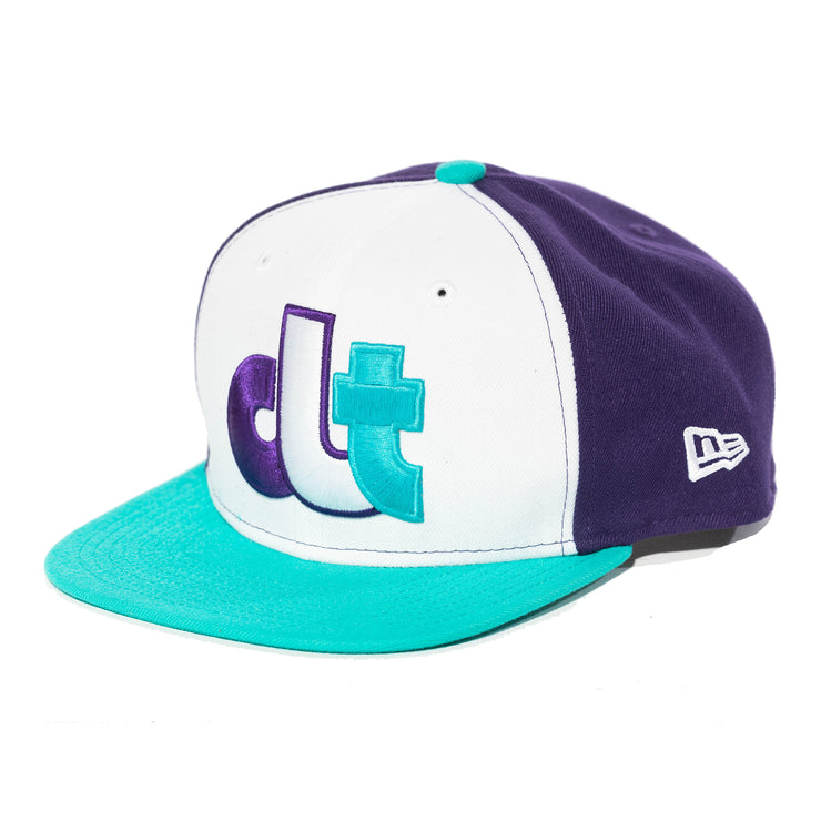 704 Shop x New Era Throwback CLT 950 Snapback (Purple, Teal, & White)