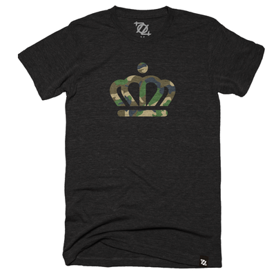 704 Shop x City of Charlotte - Official Crown Tee - Black/Camo (Unisex) *LIMITED EDITION*
