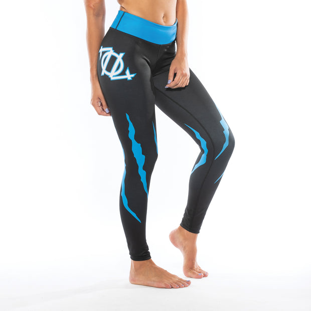 704 Shop Cat Scratch Yoga Leggings (Black)