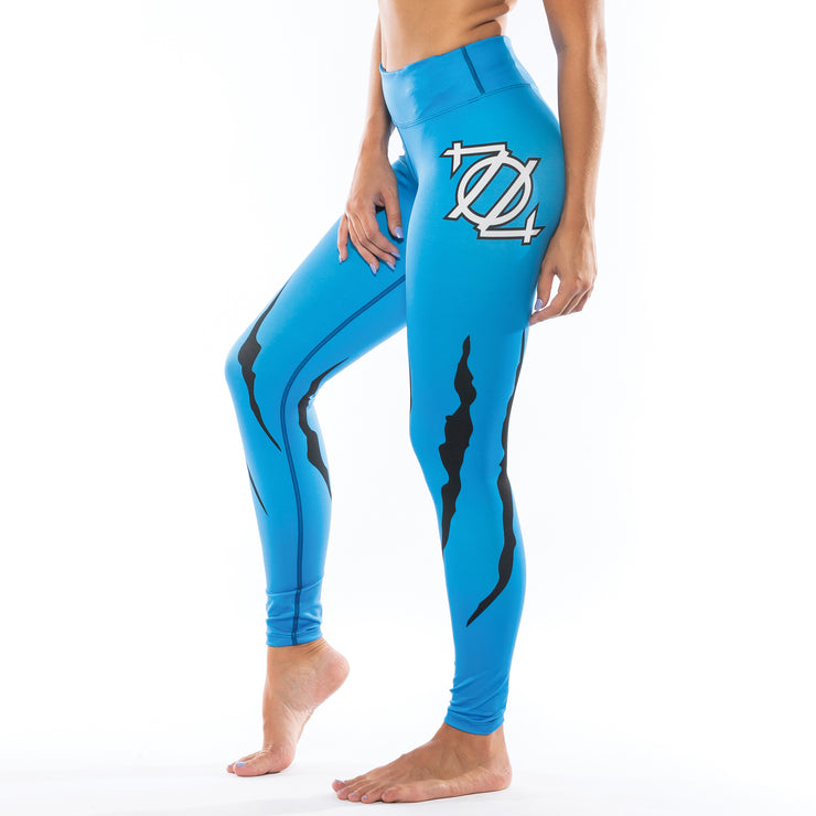 704 Shop Cat Scratch Yoga Leggings (Blue)