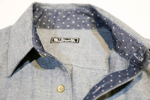 704 Shop Cut & Sew Series - Dot Chambray Button Up