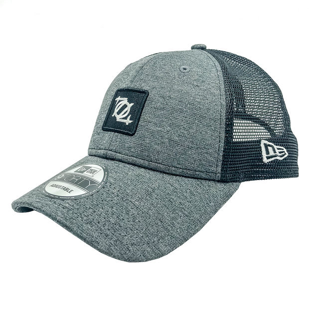 704 Shop x New Era - Low-Profile Box Logo Trucker Hat - Charcoal/Black