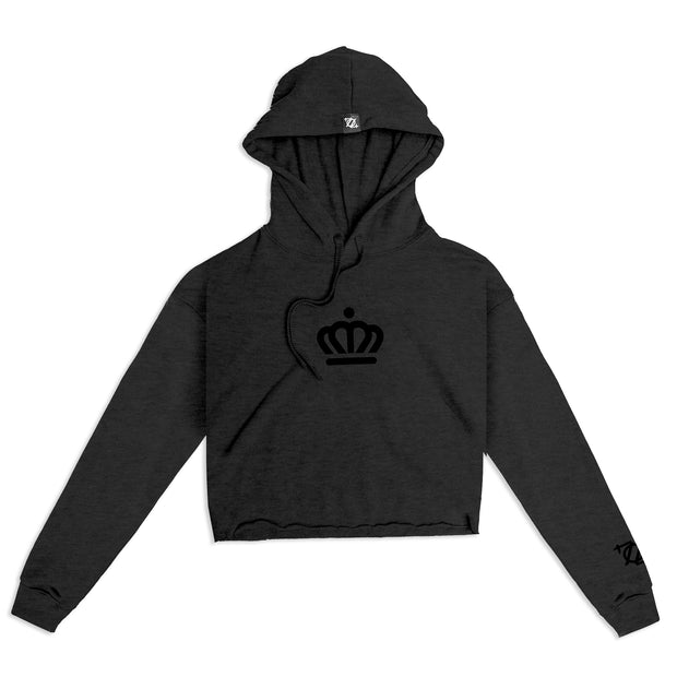 704 Shop x City of Charlotte Official Crown Cropped Sweatshirt - Charcoal/Black (Women's)