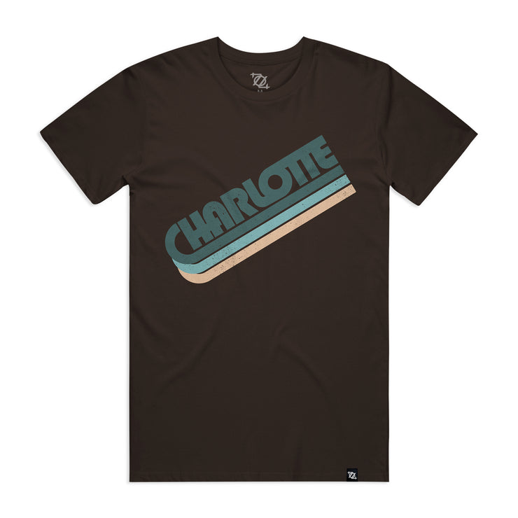 704 Shop Charlotte in the 70's Tee - Dark Chocolate (Unisex)