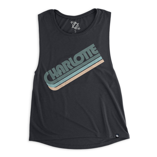 704 Shop Charlotte in the 70's Muscle Tank - Midnight (Women's)