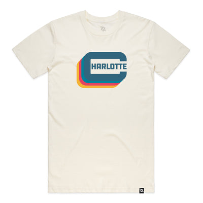 "704 Shop Charlotte ""C"" Tee - Natural/Multi (Unisex)"