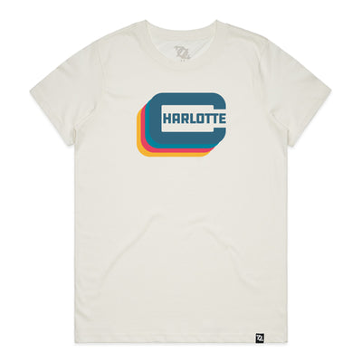 "704 Shop Charlotte ""C"" Tee - Natural/Multi (Women's)"