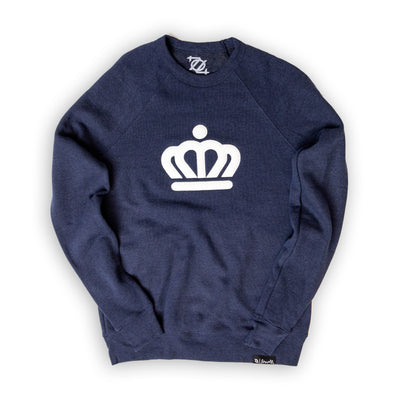 704 Shop x City of Charlotte Official Crown Premium Applique Crew Neck Sweatshirt - Navy(Unisex)