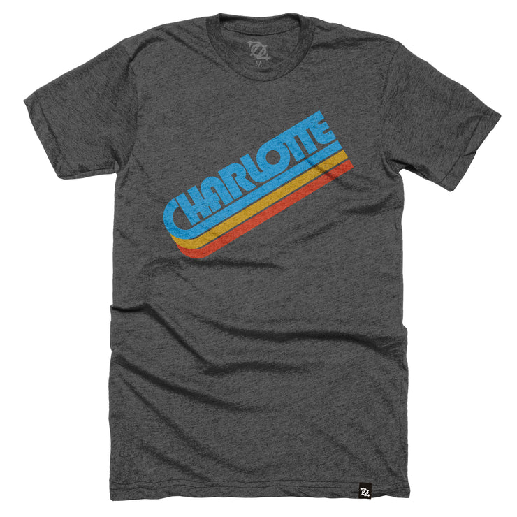 704 Shop Charlotte in the 70's Tee - Charcoal (Unisex)