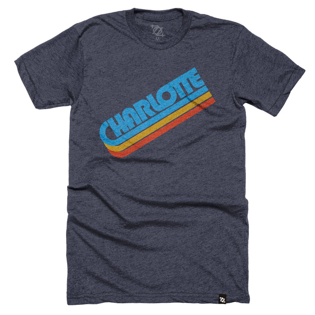 704 Shop Charlotte in the 70's Tee - Midnight Navy (Unisex)