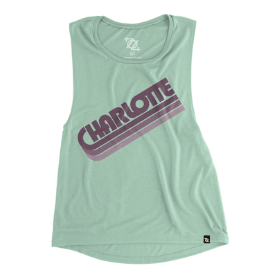 704 Shop Charlotte in the 70's Muscle Tank (Women's)