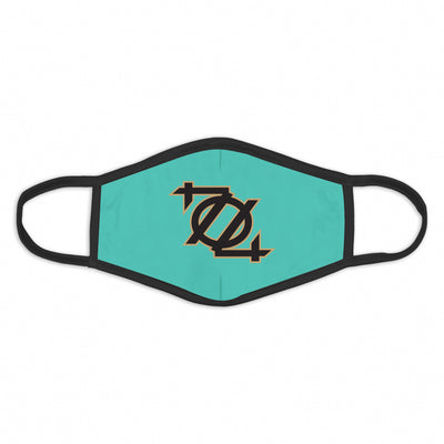 704 Shop 704 Logo Face Mask - Mint/Black/Gold
