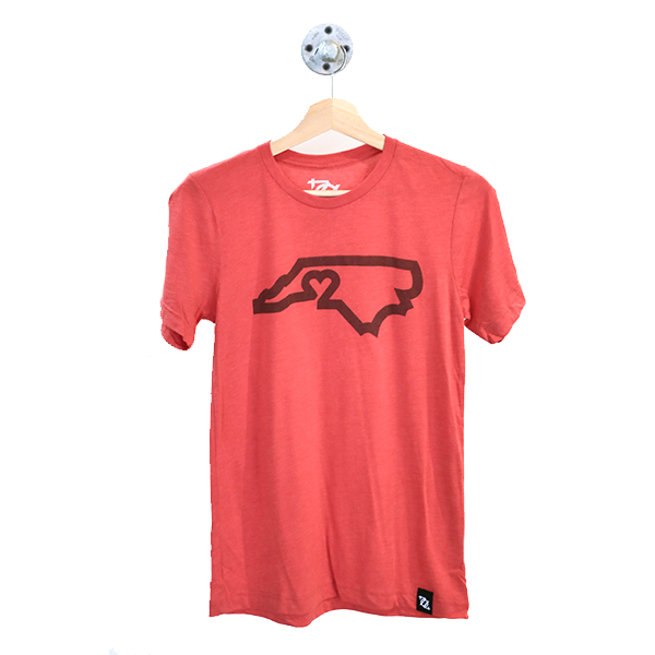 704 Shop CLT Love Tee - Red/Red (Unisex)