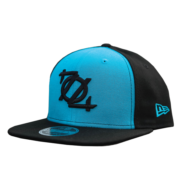 704 Shop X New Era 950 Logo Hat (Black/Blue Colorblock)