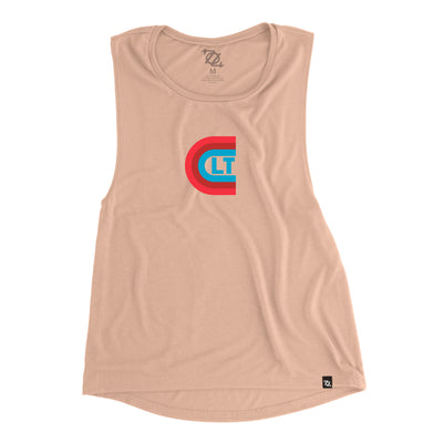 704 Shop Copacetic CLT Muscle Tank - Peach (Women's)