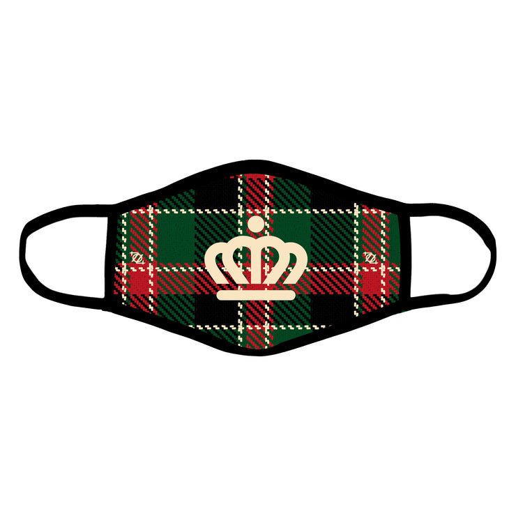 704 Shop x City of Charlotte Official Crown Christmas Plaid Mask