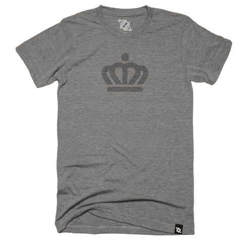 704 Shop x City of Charlotte - Official Crown Tee Gray/Gray (Unisex) - Delivery 2