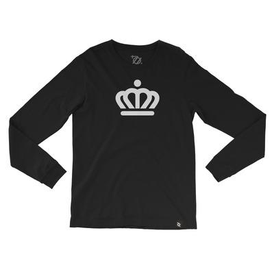 704 Shop x City of Charlotte - Official Crown Longsleeve Tee Black/White (Unisex) - Delivery 1