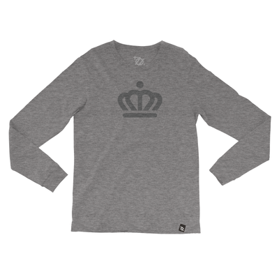 704 Shop x City of Charlotte - Official Crown Longsleeve Tee Gray/Gray (Unisex) - Delivery 2