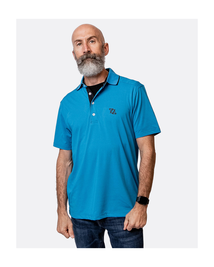 704 Shop Essential Performance Polo - Panther Blue