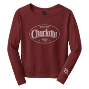 704 Shop Discover Charlotte - Wideneck Sweatshirt (Women's)